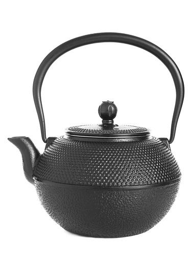 Taşev Linden - Menekşe 1200 ml Siyah Döküm Çaydanlık-Bambum